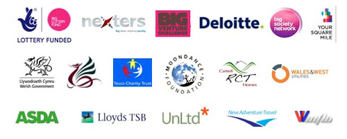 Logos of businesses that supported Glyncoch